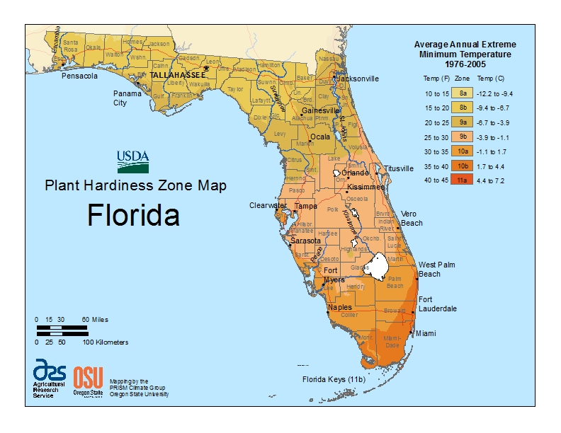 Usda Loan Florida Map.Hardiness Zone Map Eco Lawn Garden