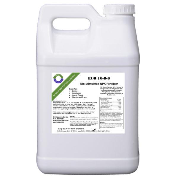 10-8-8 npk 2.5 gallon liquid fertilizer organic and natural ingredients