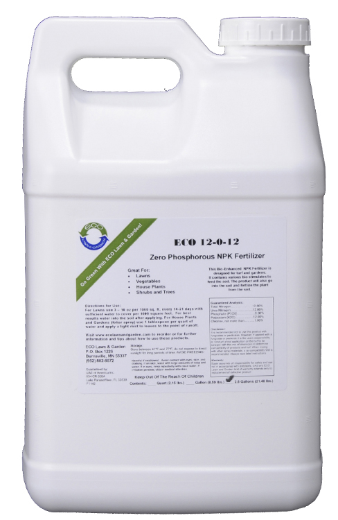 12-0-12 npk 2.5 gallon liquid fertilizer phosphorous free natural organic ingredients