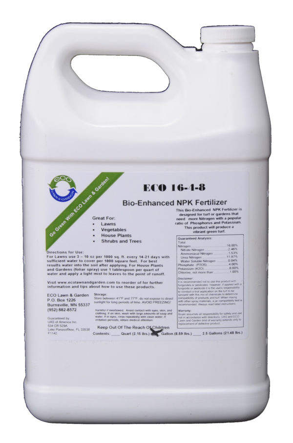 16-4-8 npk gallon liquid fertilizer with bios natural and organic ingredients