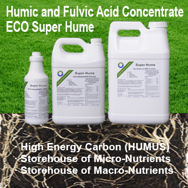 Eco Super Hume Humic Acid is a highly concentrated form of liquefied organic carbon for the soil