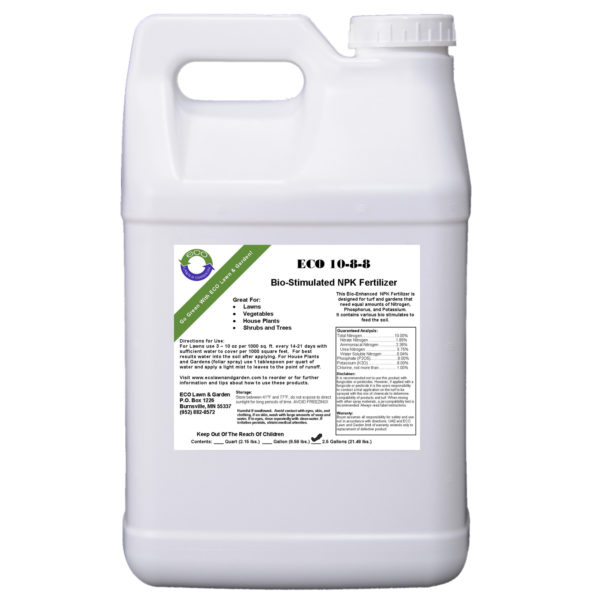 10-8-8 npk 2.5 gallon liquid fertilizer organic and natural ingredients