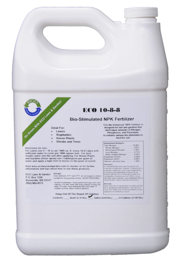 10-8-8 npk gallon liquid fertilizer organic and natural ingredients