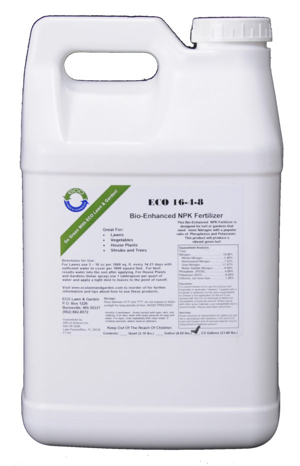 16-4-8 npk 2.5 gallon liquid fertilizer with bios natural and organic ingredients