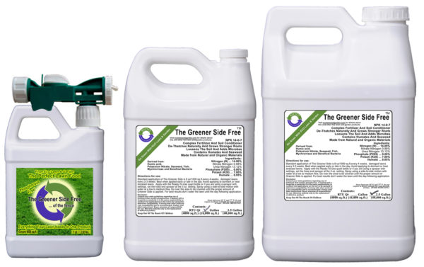 All-in-one liquid fertilizer phosphorous free Greener-Side organic and natural ingredients